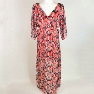 NEW Romeo + Juliet Couture Floral Maxi Dress S